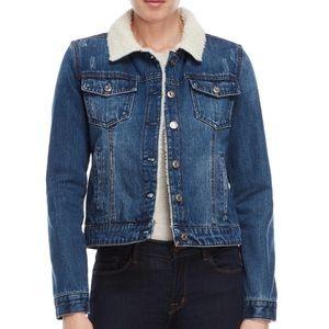 Kensie Plush Jean Jacket